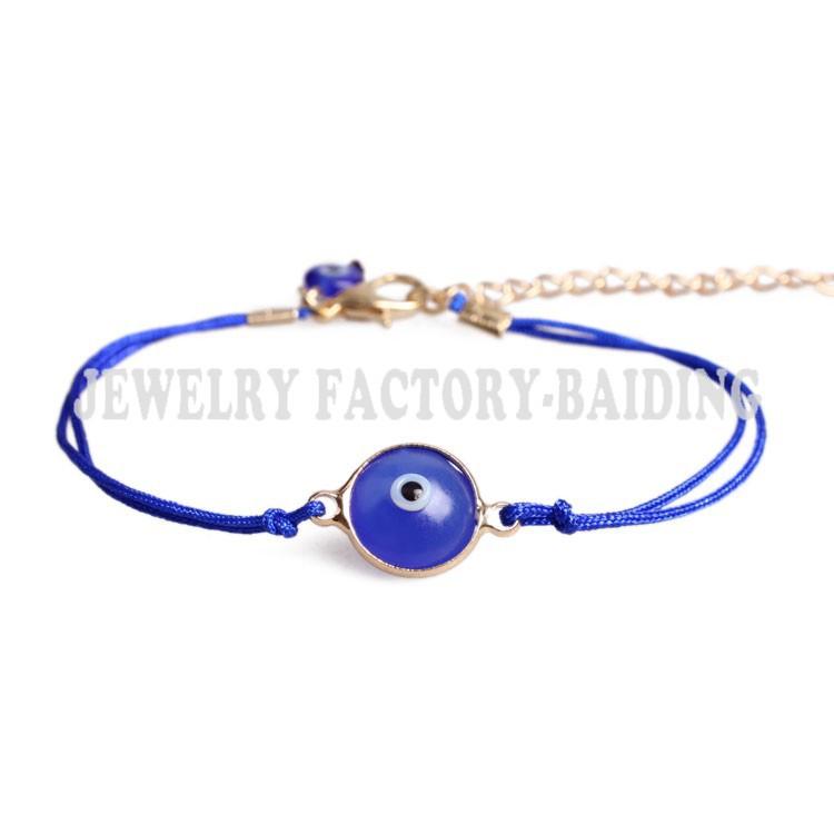 handmade cheap simple many color resin evil eye charm rope bracelet - Yiwu Baiding Trade Co., Ltd. store