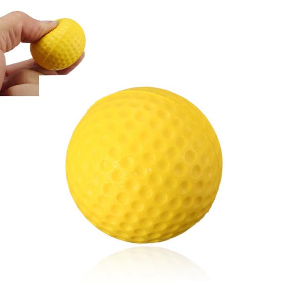 4pcs/lot Soft Indoor Outdoor Training Practice Golf Sports Elastic PU yellow Foam Ball beginner Training Aid(China (Mainland))