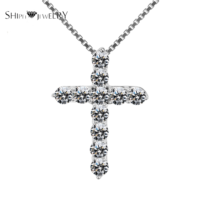 Handmade Jewelry!SHIPEI 2016 Cross Pendant Necklace in Plated Platinum with 11 Imitation Diamonds, Fashion Necklace for Women(China (Mainland))