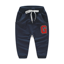 Baby G word slacks 2016 spring new style children's clothing boys drawstring pants wholesale and retail kz-7461
