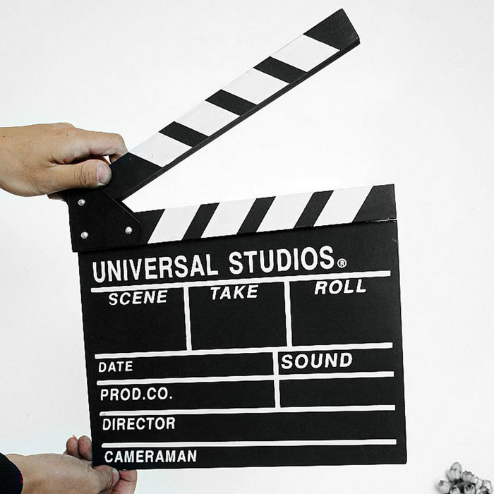 Director Video Scene Clapperboard TV Movie Clapper Board Film Cut Prop On Sale