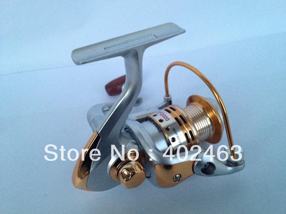 Free shpping Spinning fishing reel GF2000 machined spool 5precision Ball Bearing 5.5:1 285g(China (Mainland))