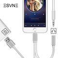 ESVNE 2 in 1 usb Cable 3 5 mm Headphone Audio Adapter For iPhone 7 6
