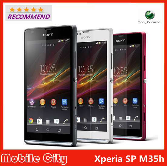 Original Refurbished Unlocked Sony Xperia SP M35h cell phone 4.6'' Android Dual-core 1GB RAM 8GB ROM 8MP WIFI 3G Free Shipping(China (Mainland))