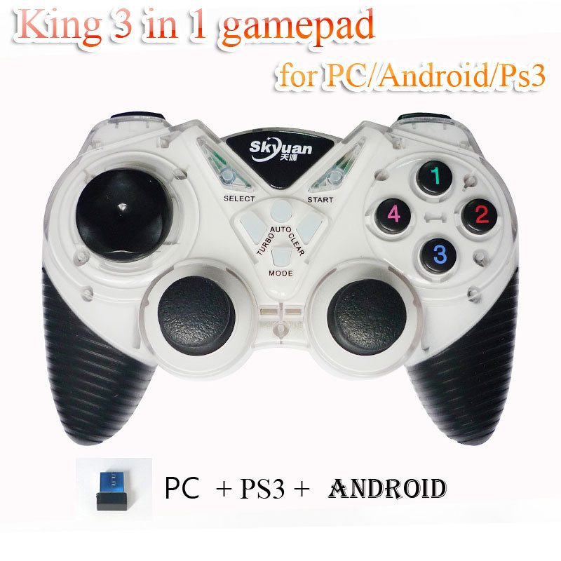 New wireless controller 4 in 1 gamepad multifunction joystick for PS2 PS3 /PC Computer/android phone talbe pc(China (Mainland))