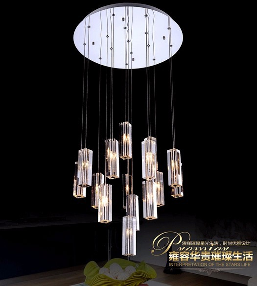 Купить Современные СВЕТОДИОДНЫЕ хрустальная люстра ресторан творческий моды лампа K9 кристалл лампы 90-260 В Высококлассная атмосфера бесплатная доставка
