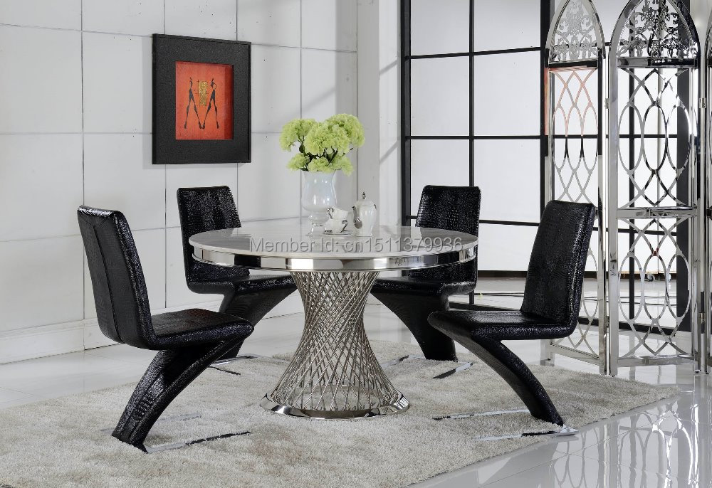 Living Room Furniture Marble Top Round Table Dining Room Furniture