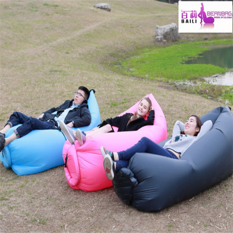 New Inflatable Sofa Air Bed Sleeping Bean Bag Beach Mattress Seat Couch Lounger(China (Mainland))