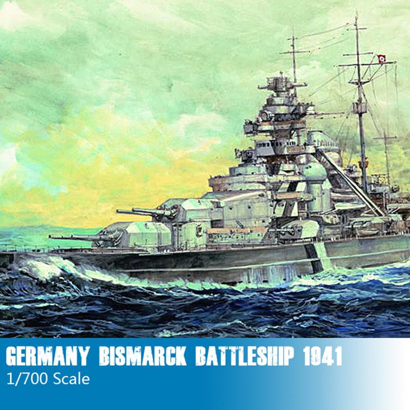 Trumpeter 1/700 Germany Bismarck Battleship 1941 Plastic Assembly Ship Models 05711(China (Mainland))