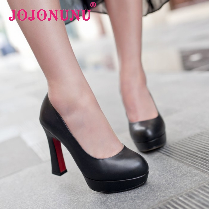 women real genuine leather platform red bottom classic high heel shoes sexy fashion brand pumps ladies shoes size 34-39 R5539<br><br>Aliexpress