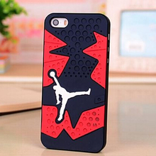Hot Sale Air Jordan sneakers Sole PVC Rubber Cover For Apple iPhone 5 5S Jordan Shoes Jump man Phone Case 30 pcs/lot(China (Mainland))