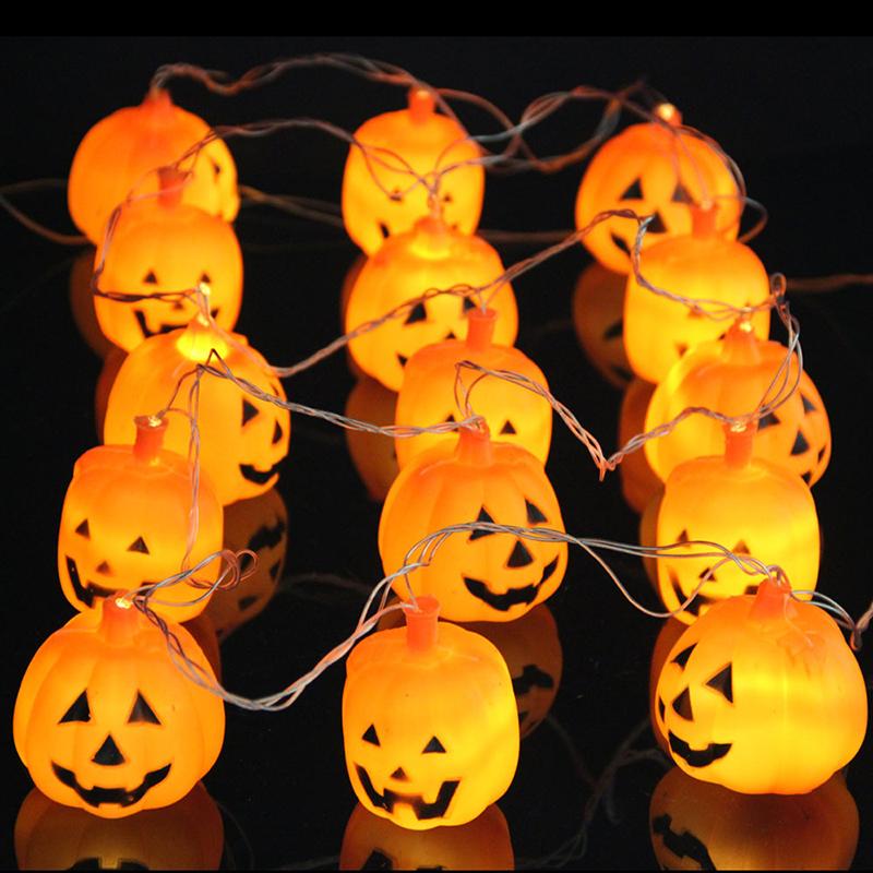Halloween 16 LEDs Pumpkin LED String Light 2.5M AC220V Orange Pumpkin Lights Halloween Holiday Decoration Lanterns Light(China (Mainland))
