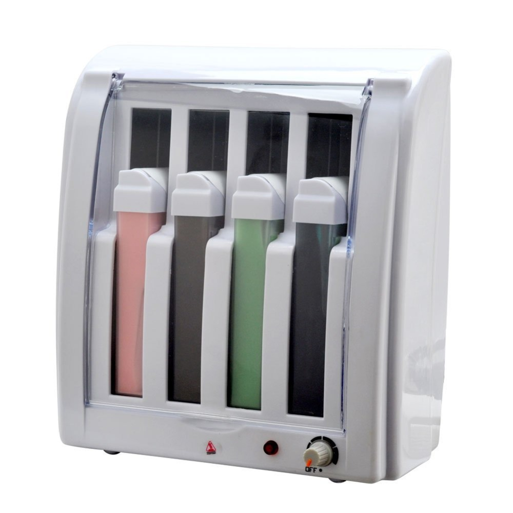 Pro Roll On Depilatory Wax Heater 4 Cartridge Hot Warmer Hair Removal Body Smooth Epilator E0386(China (Mainland))