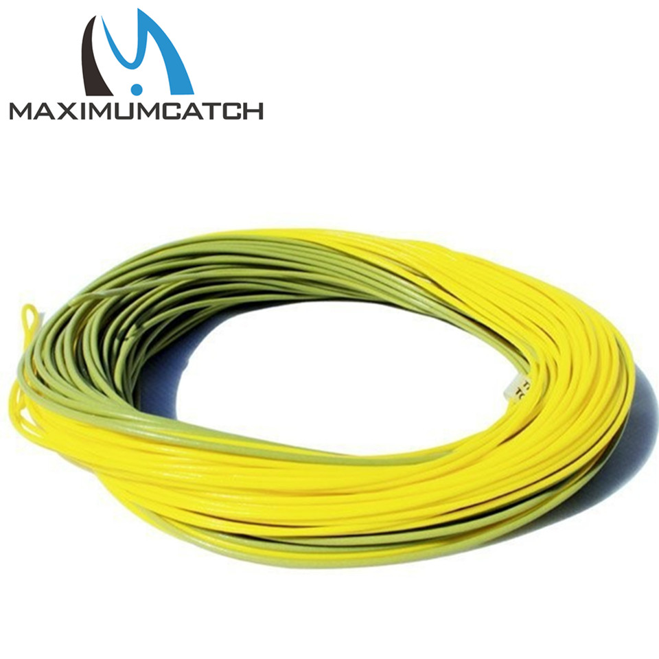 Maximumcatch 100 FT Smooth Casting Fly Fishing Line Weight Forward Floating Fly Line With Exposed Loop Fly Line(China (Mainland))