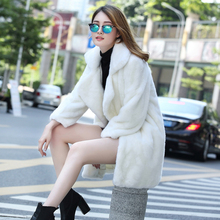 2016 Women Elegance Winter Warm Faux Fur Long Sleeve Coat White Jackets Outerwear(China (Mainland))