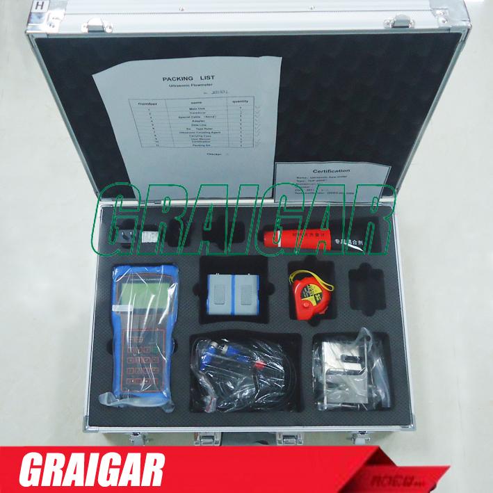 Portable handheld ultrasonic flowmeter TUF-2000H+TM-1 (DN50-700mm) digital flow meter<br><br>Aliexpress