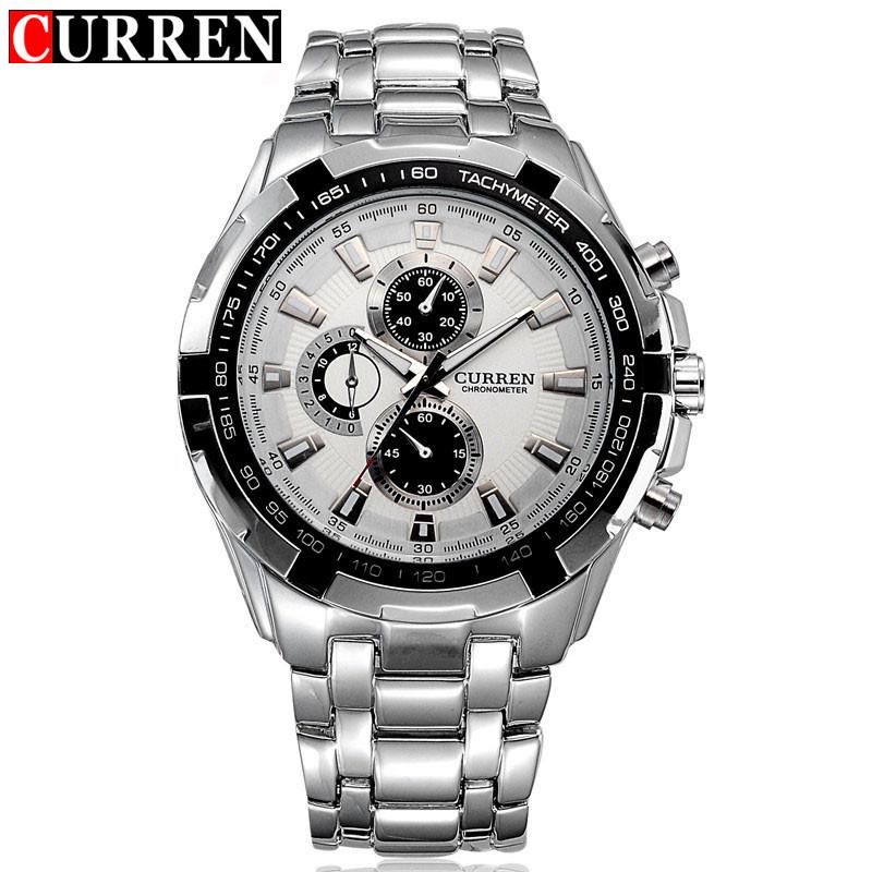 Curren Men Watches Top Brand Luxury Men Military Wrist Watches Full Steel Men Sports Watch Waterproof Relogio Masculino(China (Mainland))