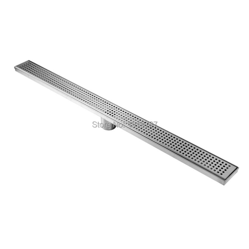 600/700/800/900/1000/1100/1200 MM High Quality Square 304# Stainless Steel Long Linear Floor Grate Waste Bathroom Shower Drain(China (Mainland))