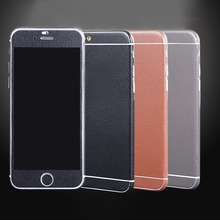 I3C#Luxury FULL Body Wrap Sticker &Leather  Protector Hard Back COVER  Film sticker  for Apple iphone 5  5s 2015