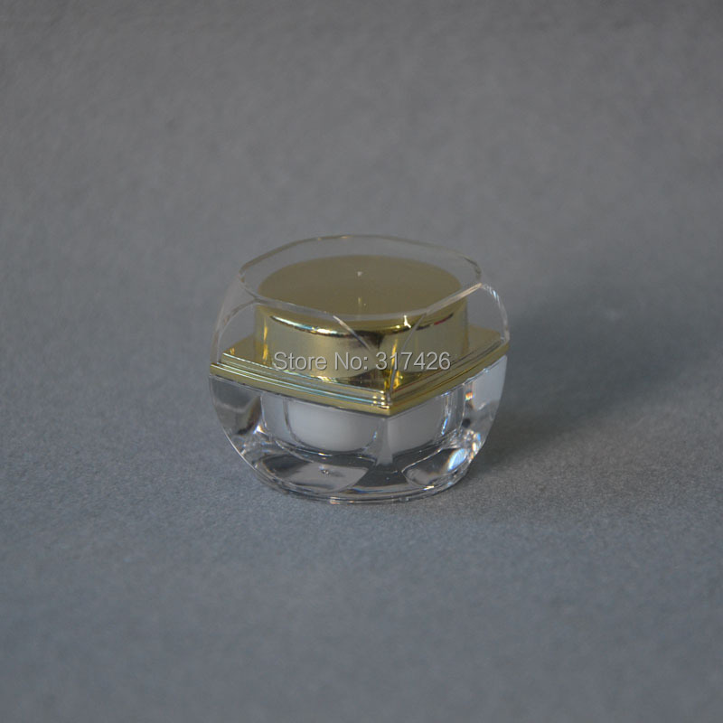Free Shipping- 5g cream jar,comestic jar,acrylic cream bottle(China (Mainland))