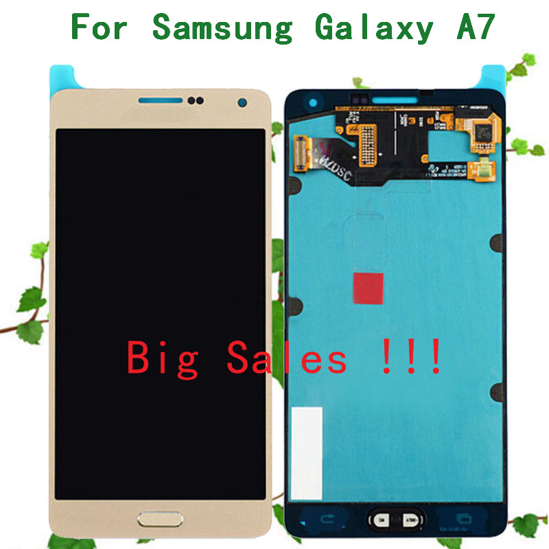 100% Original For Samsung Galaxy A7 Display A7000 A7009 A700F A700FD LCD Touch Screen Digitizer Assembly Replacement(China (Mainland))