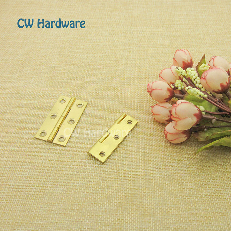 CW Hardware DecFab 1 inch Brass Components For Furniture, Small Hinges, hinges for caskets, Butt Hinges For Jewelry Boxes(China (Mainland))