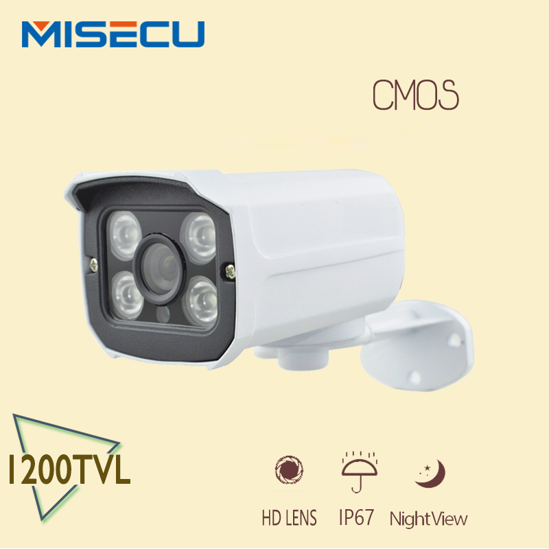HOT 100%Original CMOS CCTV Camera 1200TVL 4pcs Array IR LEDS Bullet with bracket Free Surveillance Water/Vandal-proof Bracket(China (Mainland))