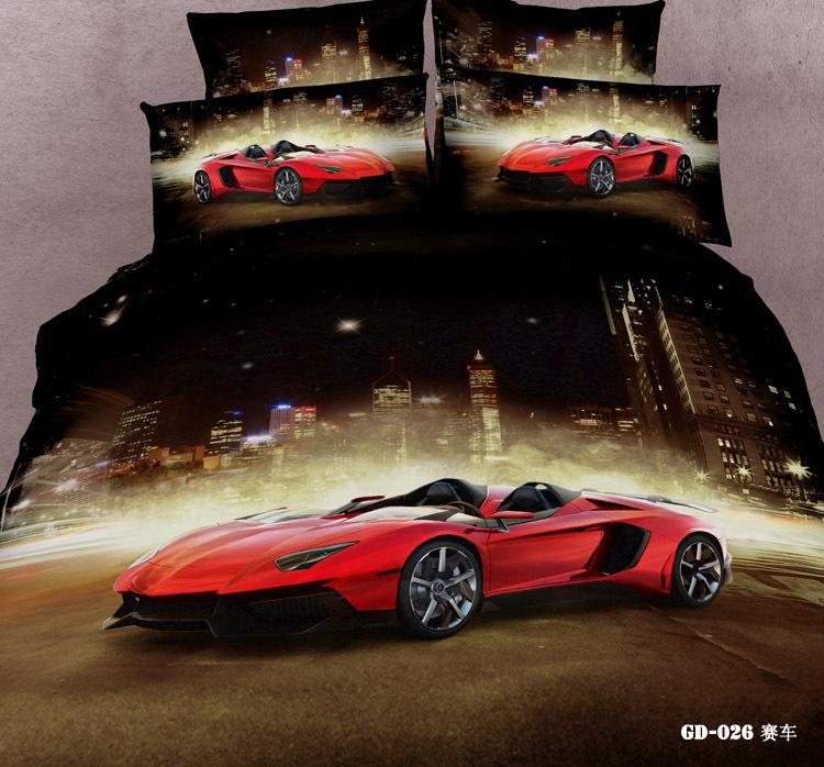 Racing Car Bedding Sets 7pcs 3d Race Cars Bedding Set