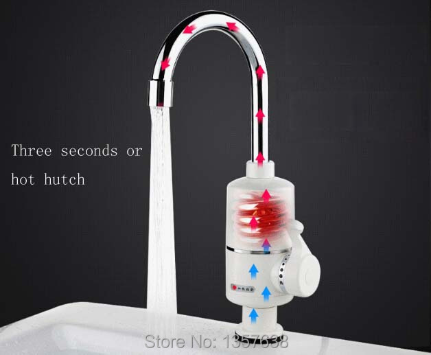 Free Shipping Instant Tankless Electric Water Heater Faucet Kitchen Instant Hot Water Tap Shower