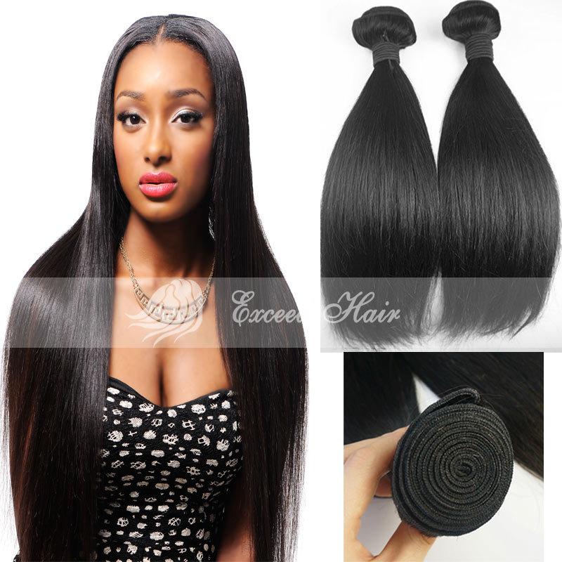 7a Unprocessed Virgin Hair Brazilian Virgin Hair Straight Human Hair Weave 3pcs/lot Brazilian Hair Weave Bundles EXCEED HAIR<br><br>Aliexpress