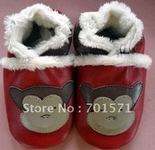 Guaranteed 100% soft soled Genuine Leather baby shoes(China (Mainland))