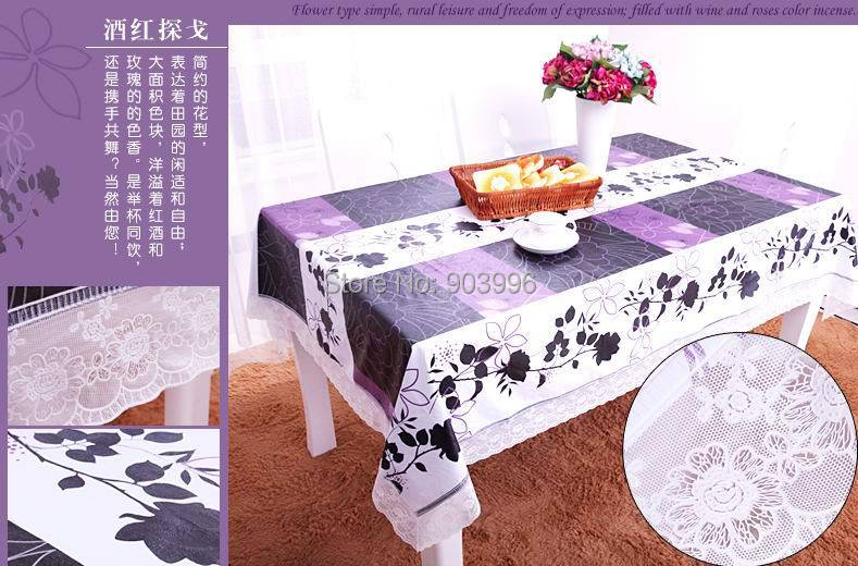 High Quality The waves side style PVC Table Cloth Plastic Waterproof Oil Dining Coffee Printed Table Cover Overlay Free Shipping(China (Mainland))