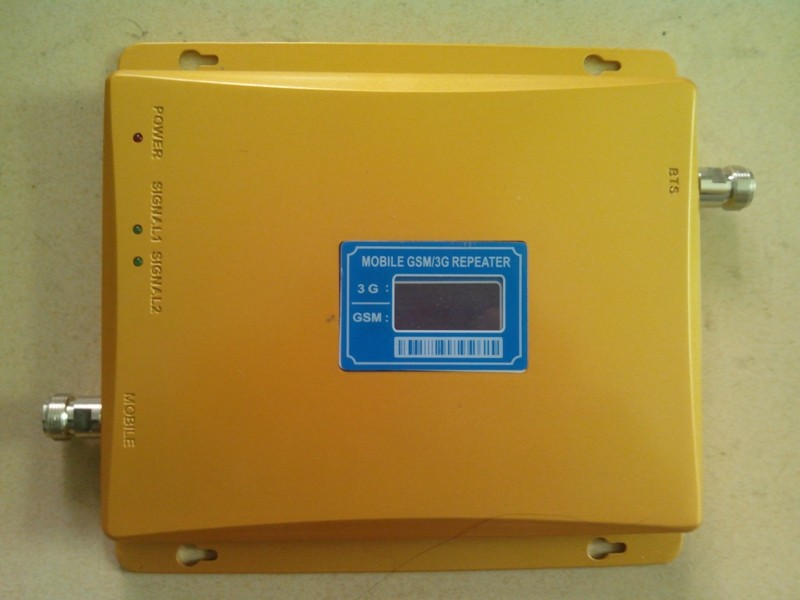 2016 Original New Dual Band LCD display 3G GSM Mobile Phone Signal Repeater GSM 900mhz WCDMA 2100mhz Booster Amplifier
