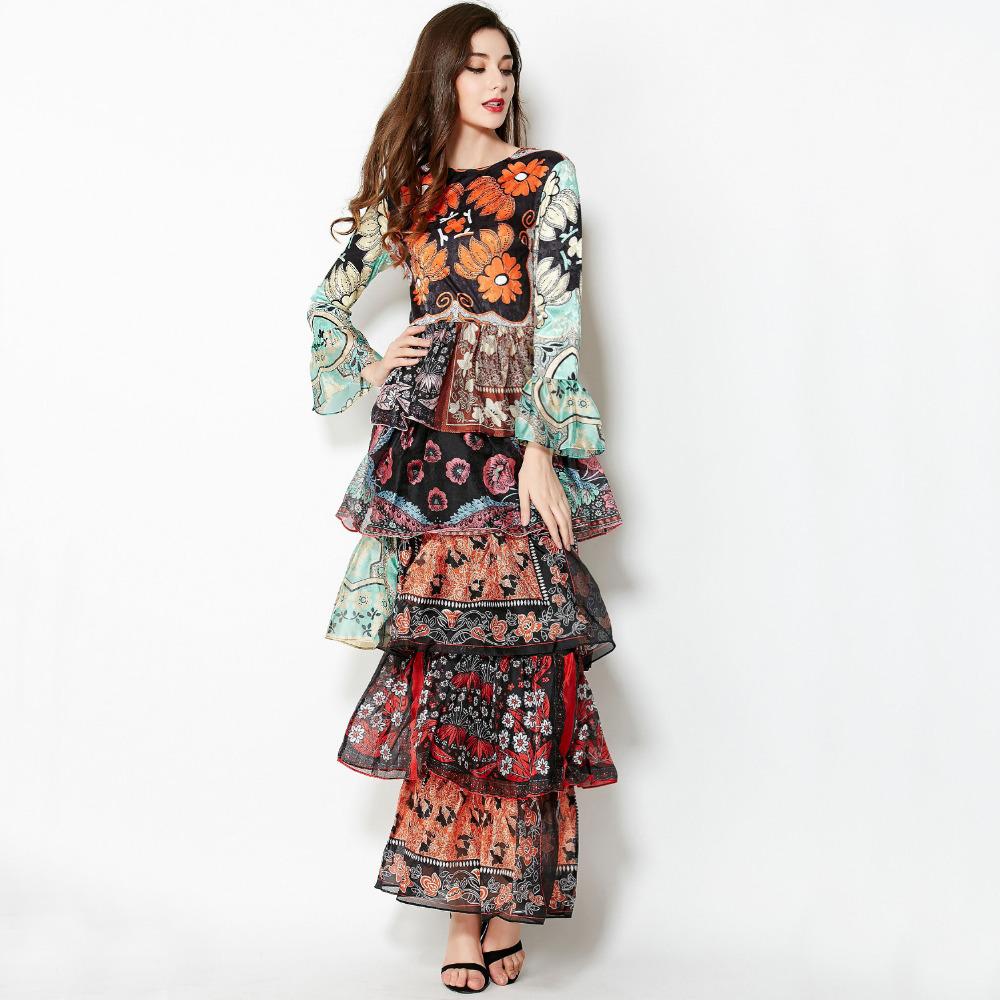 Printed Dress 2015 Summer Spring Fashion Runway New Ladies ...