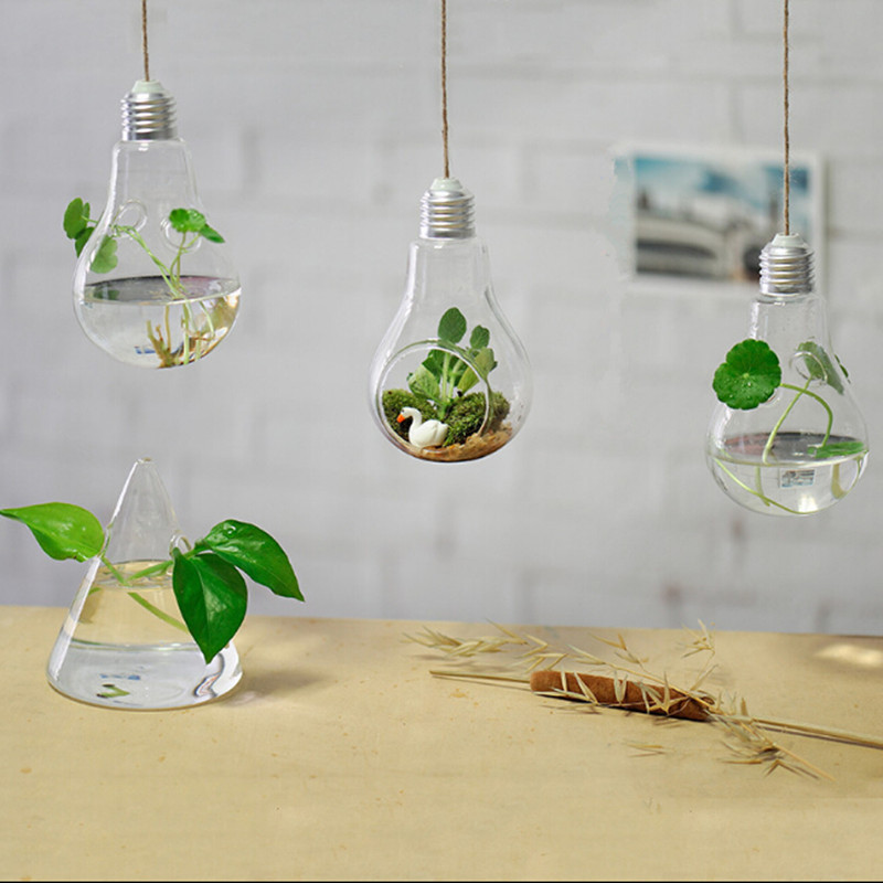 Hanging lamp glass vase hydroponic vases fashion home