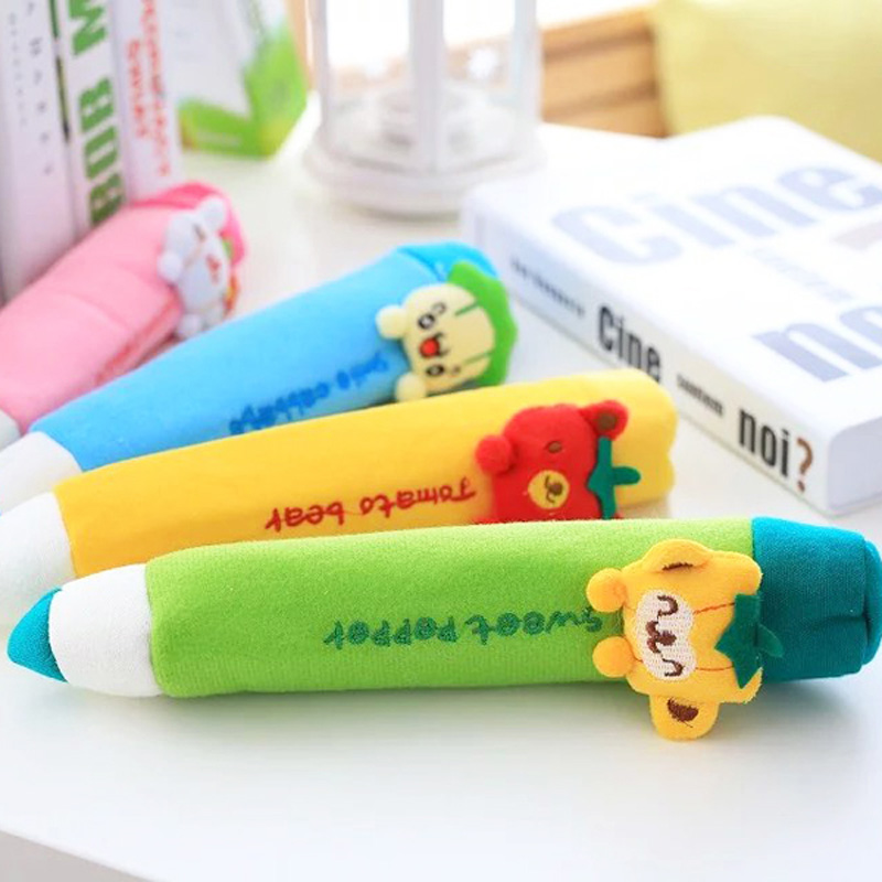 Aall long size 30cm Lovely Pencil Plush toys colorful Plush Pencil doll Children gift kids toys 1 piece wholesale(China (Mainland))