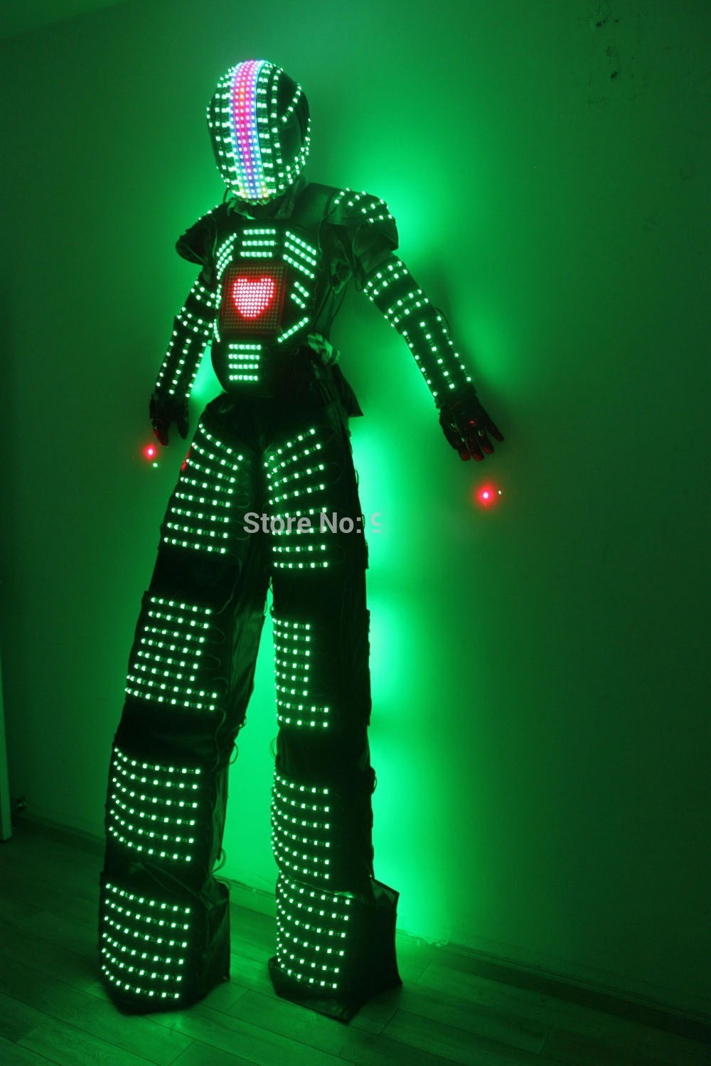Handmade High Quality Led costume luminous led clothing stage performance costume wear robot led suit(China (Mainland))