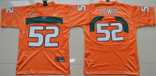 Nike Miami Hurricanes Ray Lewis 52 College hot sale skateboard - White Size S,M,L,XL(China (Mainland))