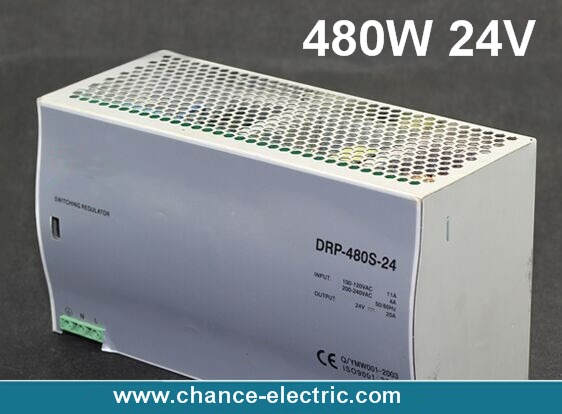 Din rail 480w 24V 20A Single Output AC/dc input SMPS switching power supply DR 480w-24v-10A for cnc cctv led light(China (Mainland))