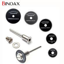 Binoax 6 unids/set Mini Herramienta Rotatoria HSS hojas de Sierra Circular Para Dremel Rotary Herramientas Eléctricas de Corte de Metal Set # P00239 #