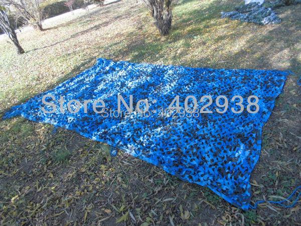 Фотография 3x5m Outdoor Ocean Marine Blue Camouflage Net Car SunShade Camo Net Hunting Camping Camo Net
