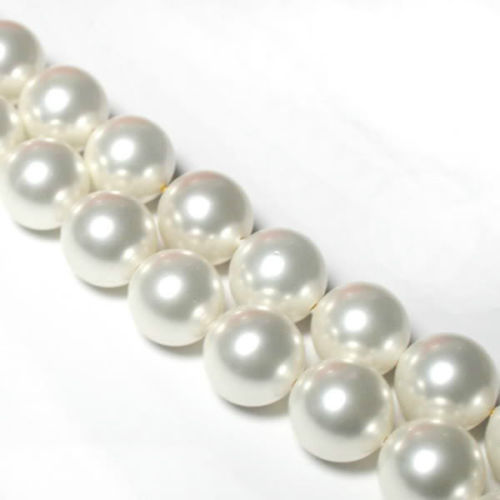 Beautiful 10mm White South Sea Shell Pearl Loose Beads jewelry Natural Stone 15'' BV109 Wholesale Price(China (Mainland))