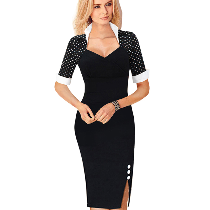 2015 vintage women summer celebrity bodycon wear to work sheath dress cocktail short sleevetunic. Black Bedroom Furniture Sets. Home Design Ideas