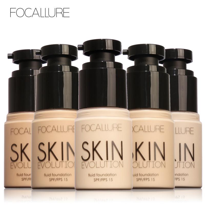 FOCALLURE Face Foundation Makeup Base Liquid Foundation BB Cream Concealer Whitening Moisturizer Oil-control Maquiagem 35ml(China (Mainland))