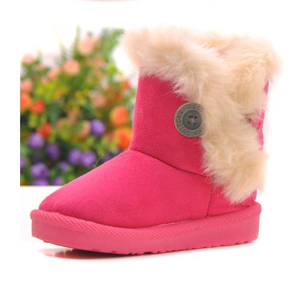 Winter children snow boots fashion boys and girls waterproof non-slip fur ankle boots kids brand design warm cotton-padded shoes
