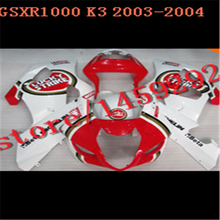 For A GSXR1000 2003 2004 red white GSX R 1000 2003-2004 Injection mold GSX-R 1000 03 04 K3 ABS Set Plastic Kit,tool parts(China (Mainland))