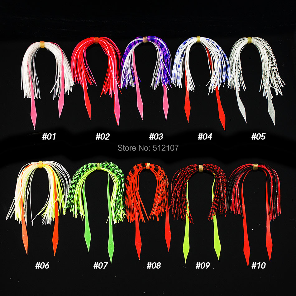 24 Bundles 50 strands Silicone Skirts <font><b>Fishing</b></font> Accessories, DIY salty rubber jig lures, squid jigs, madai jig lure