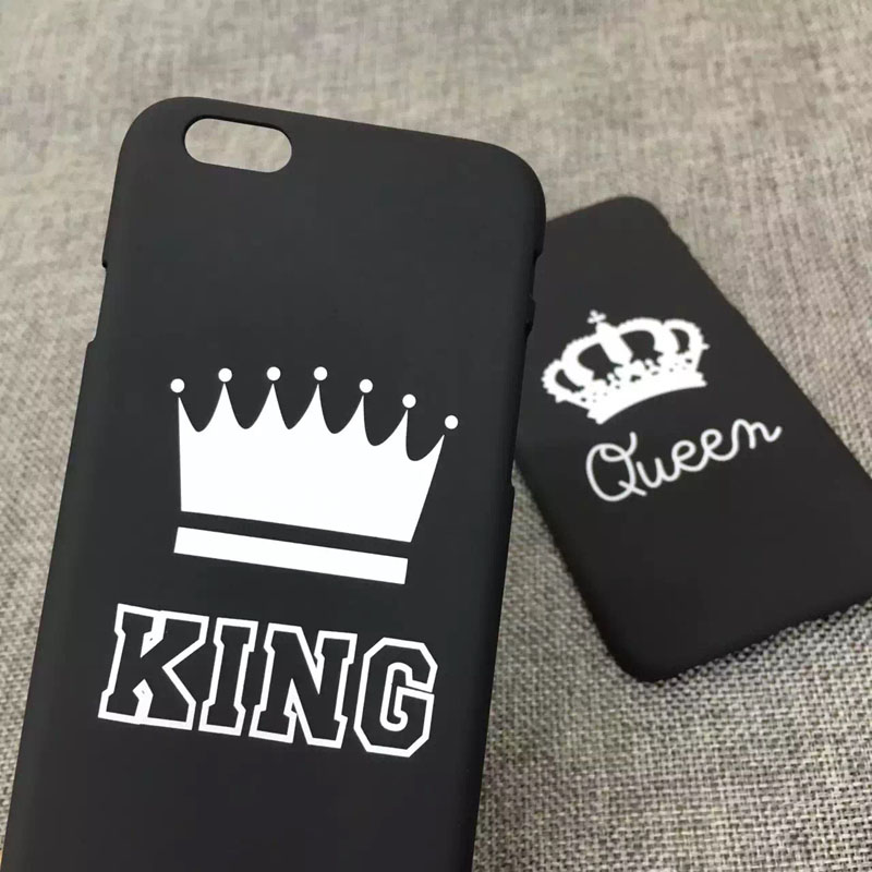 New Fashion Lovers Black Letter Case Matte Hard Plastic Cover Capa Carcasas Funda Coque For iPhone 6 6s 6 plus 5 5s Couple Case(China (Mainland))