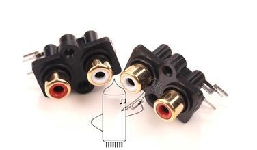 10PCS RCA AV audio jack socket dual-channel two-hole Cinch two red and white lotus seat outlet(China (Mainland))