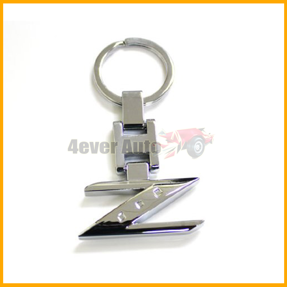 (1) Chrome Finishing Letter Z Key Chain Ring For Nissan 240ZX 280ZX 300ZX 350Z 370Z Z Car(China (Mainland))